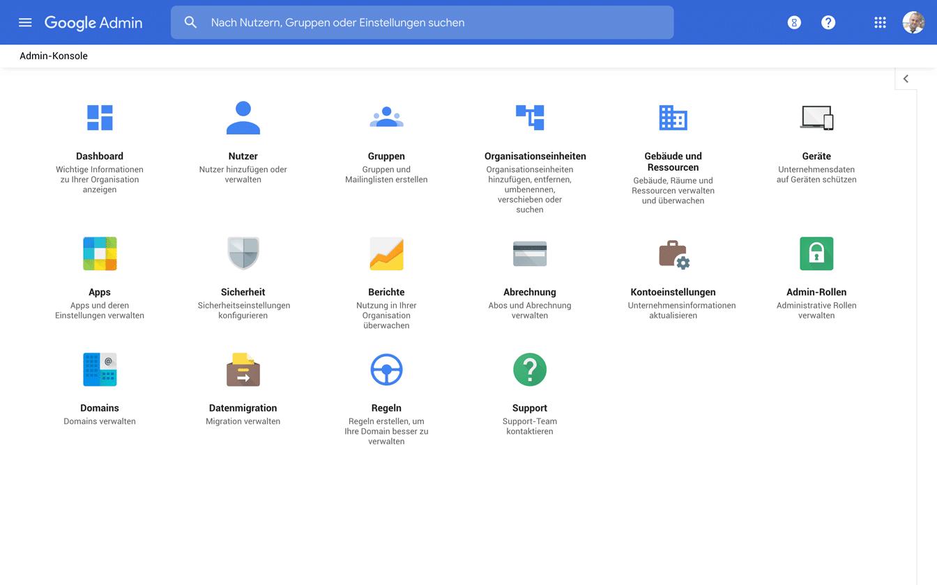 Google Admin Screenshot